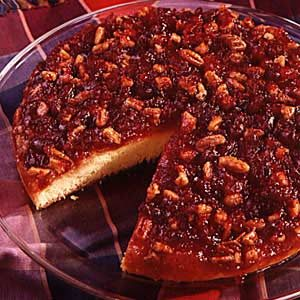 Cranberry Pecan Upside Down Cake Recipe