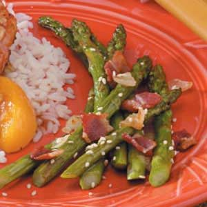 Bacon Onion Asparagus Recipe