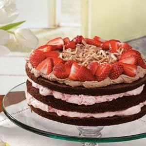 Strawberry-Almond Chocolate Torte Recipe