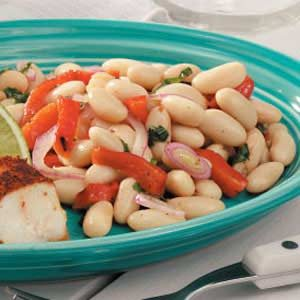 Cannellini Bean Salad with Roasted Peppers Recipe