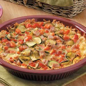 Vegetable Ham Quiche Recipe