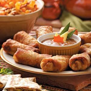 Chicken and Pork Egg Rolls