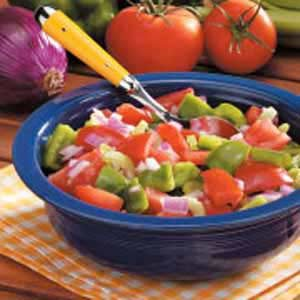 Green Pepper Tomato Salad Recipe