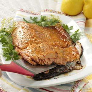 Glazed Asian-Style Salmon Fillet Recipe