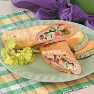 Warm Ham 'n' Swiss Wraps Recipe