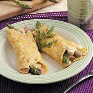 Asparagus Chicken Crepes Recipe