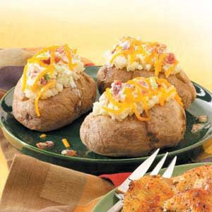 Baked Potatoes with Topping Recipe