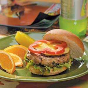 Caribbean Turkey Burgers Recipe