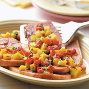 Ham with Mango Salsa Recipe