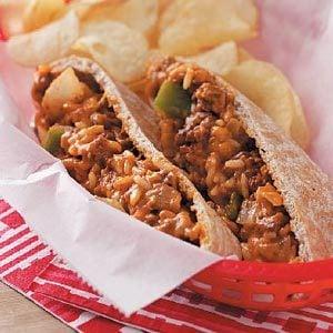 Cheeseburger Pitas Recipe