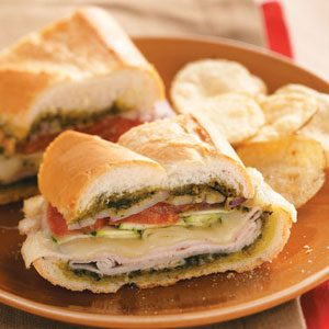 Pesto-Turkey Layered Loaf Recipe