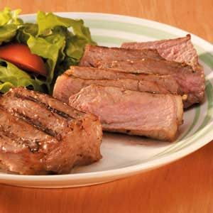Caesar New York Strips Recipe