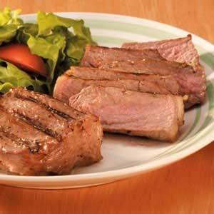 Caesar New York Strips Recipe