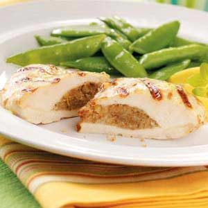 Grilled Chicken Breasts with Stuffing