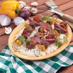 Sirloin Veggie Kabobs Recipe
