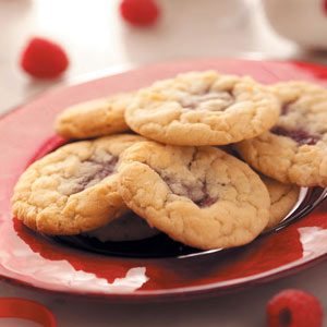 Coconut Raspberry Cookies