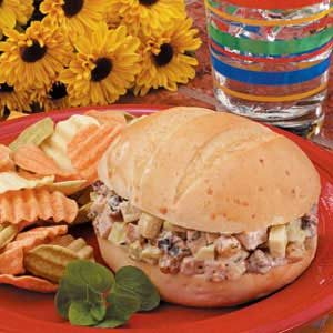Waldorf Turkey Salad Sandwiches Recipe