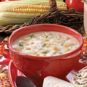 Quick and Rich Corn Chowder Recipe
