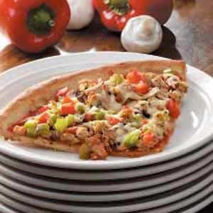 Grilled Veggie Sausage Pizza