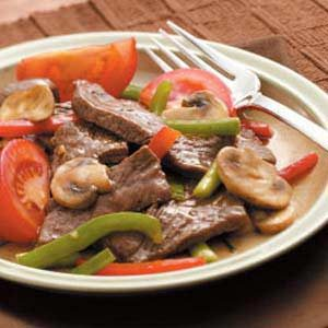 Mushroom Pepper Steak Recipe