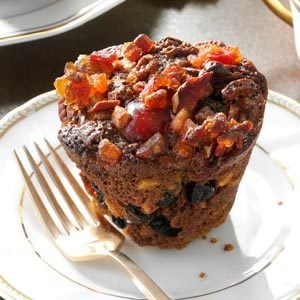 Miniature Christmas Fruitcakes Recipe