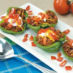 Taco-Stuffed Pepper Cups Recipe