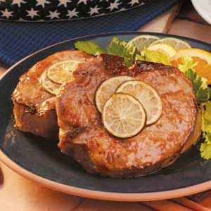 Pork Chops with Orange Glaze Recipe
