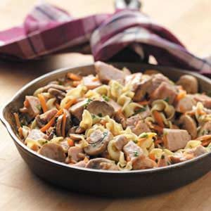 Pork Noodle Skillet Recipe