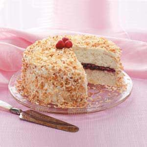 Raspberry Coconut Cake Recipe