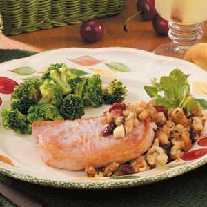Chops With Fruit Stuffing Recipe