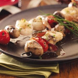 Seafood Brochettes Recipe