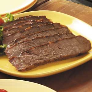 Marinated Barbecued Chuck Roast Recipe