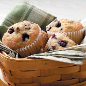 Sugar-Dusted Blueberry Muffins Recipe