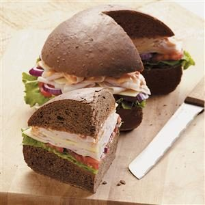 Pumpernickel Turkey Hero Recipe