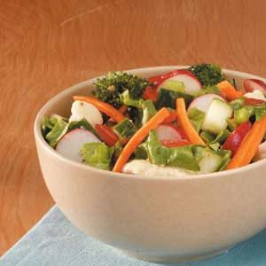 Super Veggie Tossed Salad Recipe