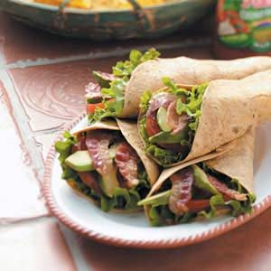 Bacon Avocado Wraps