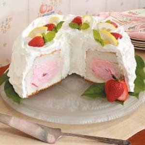 Strawberry Tunnel Angel Food Cake