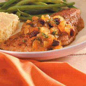 Catfish with Spiced Fruit Salsa Recipe