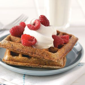 Chocolate Pecan Waffles Recipe