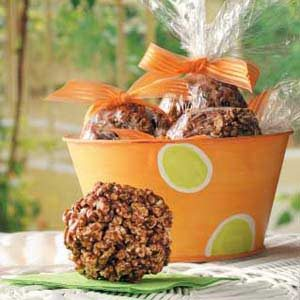 Chocolate Popcorn Balls Recipe | Taste of Home