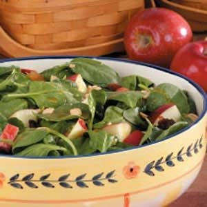 Apple Peanut Spinach Salad Recipe