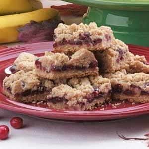 Sour Cream Cranberry Bars Recipe