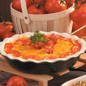 Tomato Onion Pie Recipe