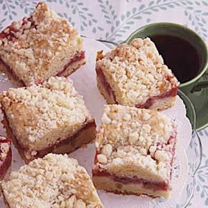 Strawberry Rhubarb Coffee Cake Recipe