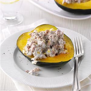 Quick Sausage-Stuffed Squash Recipe