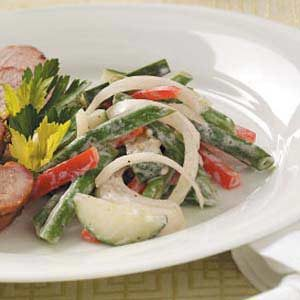 Green Bean Salad with Creamy Dressing
