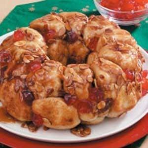 Cherry Almond Pull-Apart Bread Recipe