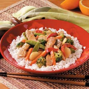 Quick Orange Pork Stir Fry Recipe