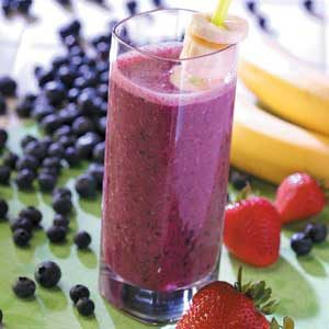 Banana Berry Drink Recipe