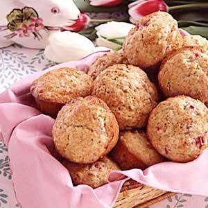 Rhubarb Pecan Muffins Recipe
